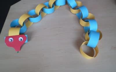 Make a colourful snake…