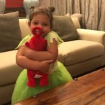 Karen surprises her daughter with a Teletubbies Jumping Po
